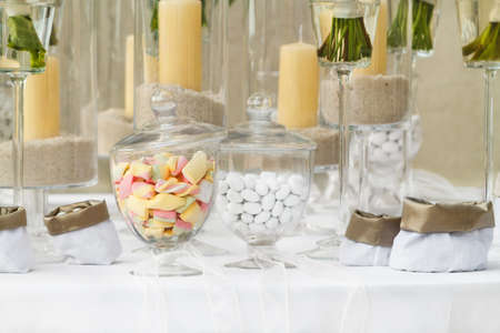 sugared almonds for a wedding photo