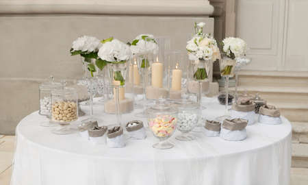 candy buffet for a wedding photo