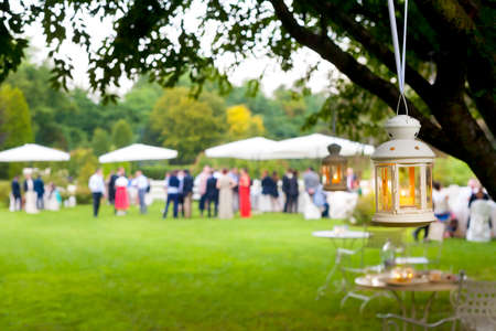 wedding party: wedding guest outdoor