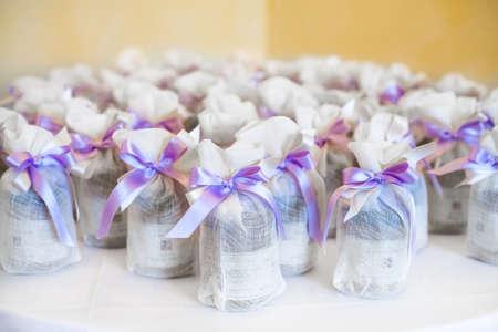 ゲストのための結婚式ギフト 写真素材