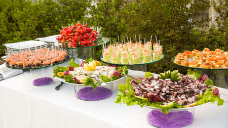 cold meal: variety Appetizers and finger food