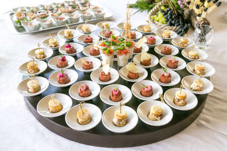 finger food: variety Appetizers and finger food