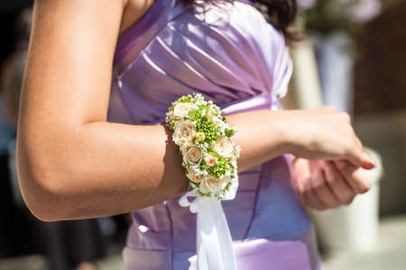 bridesmaids corsage Standard-Bild