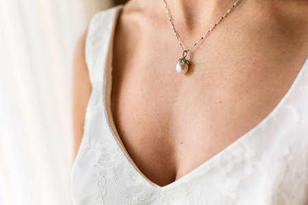 perlas: collar de novia de la perla