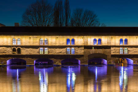 artificial lights: Barrage Vauban strasbourg Alsace France