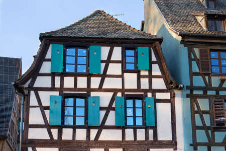 timbered: Historic timbered houses in Alsace, Strasbourg.