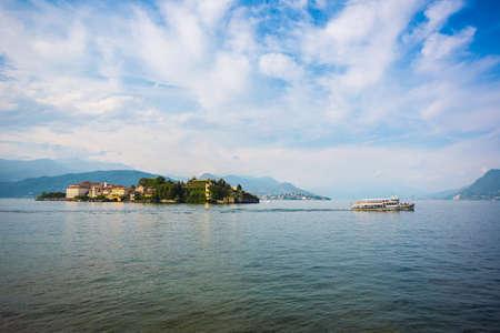 borromeo: Landscape with Isola Bella, Island on Maggiore lake, Stresa, Italy