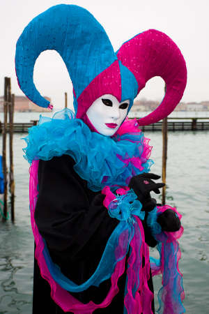 costumed: Traditional costumed Carnival in Venice Stock Photo
