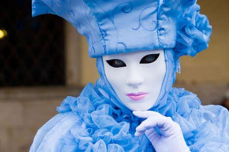 Traditionelle kostümierte Karneval in Venedig