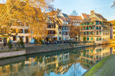timbered: Historical timbered house in petite france, Strasbourg, Alsace, France