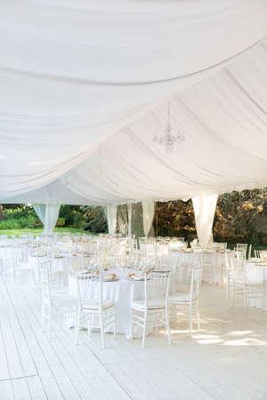 reception: Outdoor wedding reception