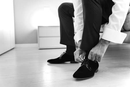 black shoes: groom and black shoes Stock Photo