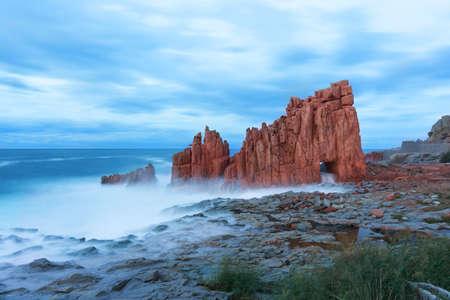 red rocks: Red rocks of Arbatax, Sardinia, italy