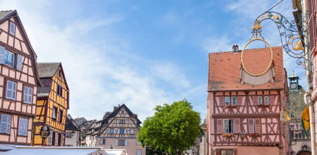 places of interest: idyllic Wine Village of Colmar in Alsace France, July 20 2015