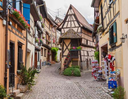 wine road: alsace, eguisheim,