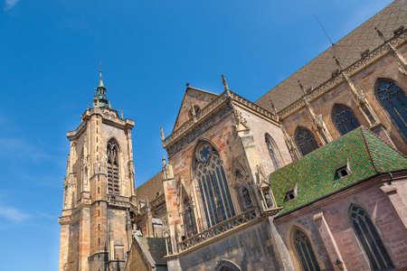 alsace: St Martins Church in Colmar, Alsace, France Stock Photo