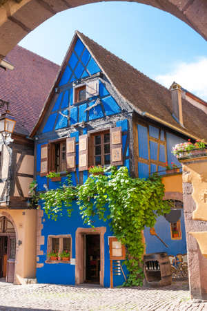 alsace: Architecture of Riquewihr in Alsace France