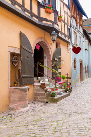 timbering: Architecture of Riquewihr in Alsace France May 18, 2015 Editorial