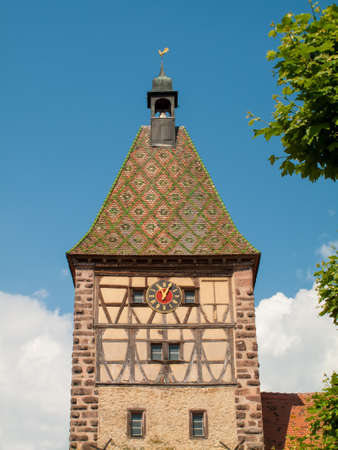 timbering: Village of Bergheim in Alsace France,