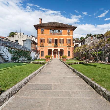 orta: Orta San Giulio, Lake Orta, Villa Bossi municipal building,Piedmont, Italy