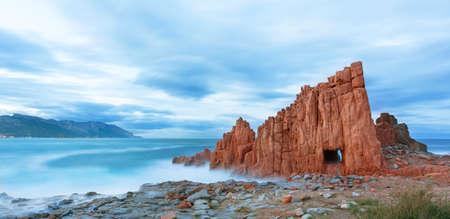 Red rocks and turquoise water of Arbatax, Sardinia, italy Imagens