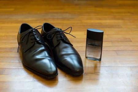 black shoes: groom black shoes