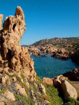 red rocks: view red rocks and coast paradise sardinia Italy Stock Photo