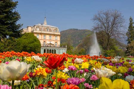Garden of Villa Taranto, on Lake Maggiore, Piedmont, Italy 12 May 2015