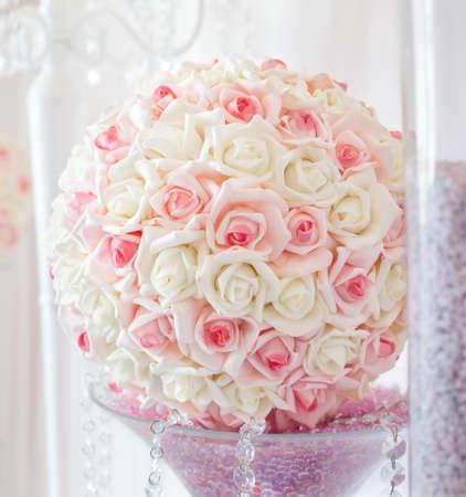 Luxury centerpieces for Wedding reception Stock Photo