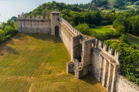 borromeo: view of  Castle Angera lake maggiore italy  16 July 2015