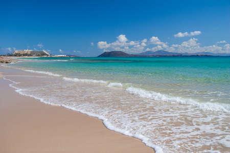 corralejo: Fuerteventura, Canary Islands, Beach in Corralejo, Spain