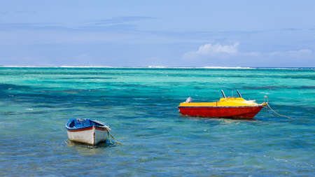 fishing boats: fishing boats island Mauritius
