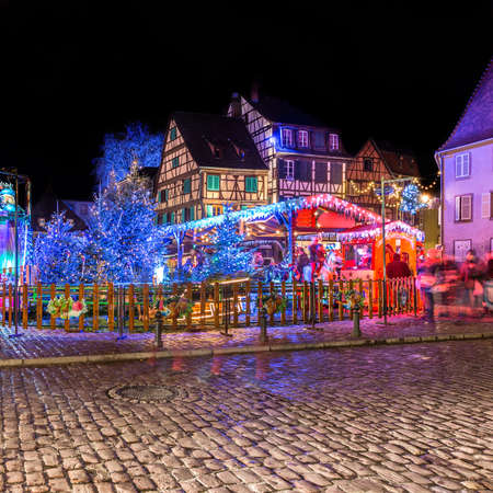 traditional french houses in Petite Venise, Colmar, France, Europe Editorial