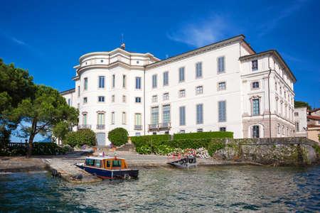 bella: Landscape with Island Fishermen  on Maggiore lake, Stresa, Italy