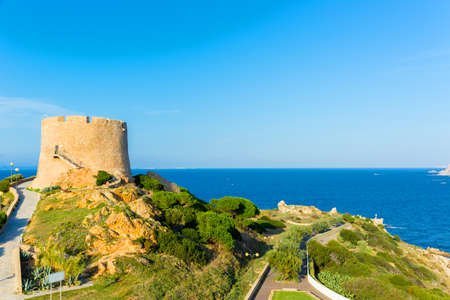 Ancient tower of Longosardo at Santa Teresa Gallura, Sardinia Italy