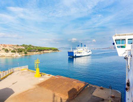 Ferry boat from Palau, island of the Maddalena, Sardinia, Italy
