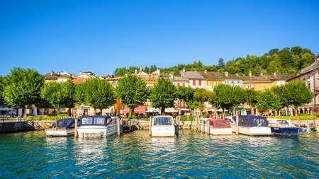 orta: Lake Orta and island of San Giulio, Italy