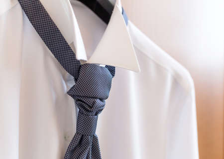 cuff: The man in the white shirt and tie Stock Photo