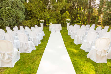 wedding set up, wedding ceremony