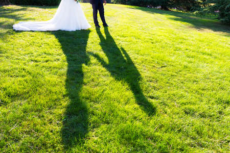shadow of the kiss of the bride and groom