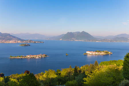 Landscape with Gulf Borromeo on Maggiore lake, Stresa, Italy