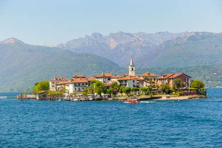 Fishermen island, on lake Maggiore Italy