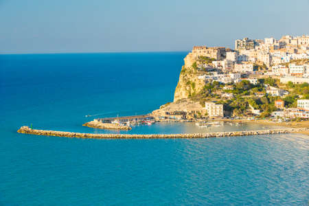 city park boat house: View of Peschici, the beautiful town in the Apulia south of Italy