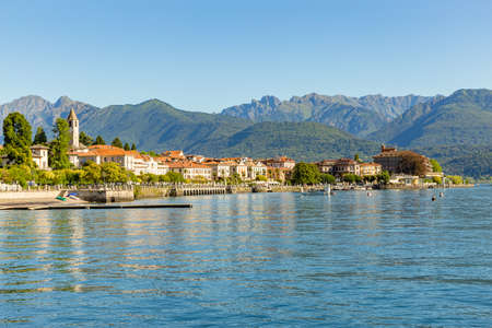 Baveno little town near at Stresa, on Lake Maggiore, Italy.
