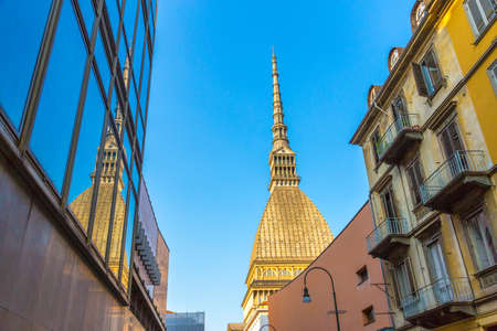 Mole Antonelliana museum building, the symbol of Turin city in Piedmont region in Italy Stock Photo
