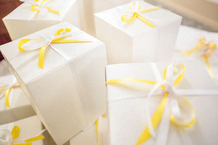 Wedding gifts for guest Stock Photo