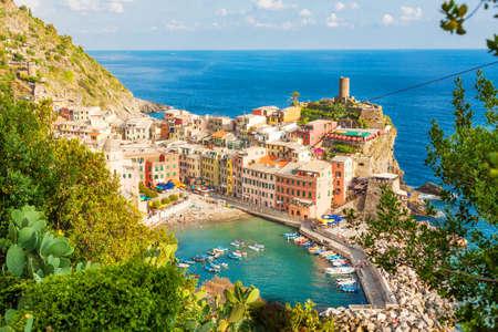 Scenic view of Vernazza, Cinque Terre, Italy Stock Photo