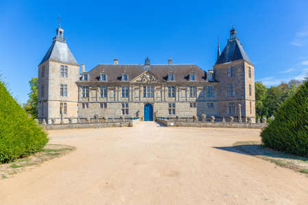 17 September 2019. View of Sully Castle in Burgundy, France.