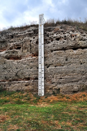 stratigraphy: Layers at archeology site in a chronological order