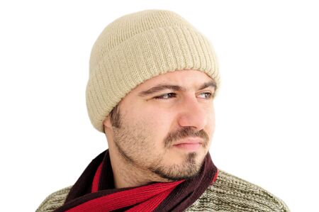 Portrait of a young caucasian man in winter outfit Stock Photo - 12131201